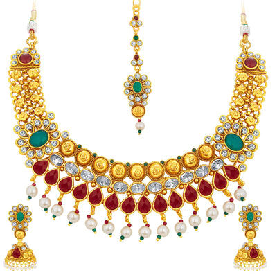 Sukkhi Magnificent Gold Plated Necklace Set For Women