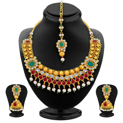 Sukkhi Magnificent Gold Plated Necklace Set For Women-1