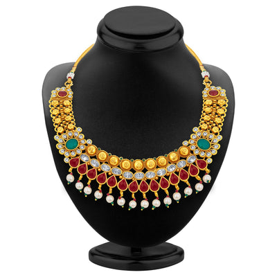 Sukkhi Magnificent Gold Plated Necklace Set For Women-3