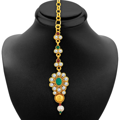 Sukkhi Magnificent Gold Plated Necklace Set For Women-7