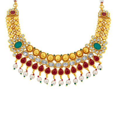 Sukkhi Magnificent Gold Plated Necklace Set For Women-2
