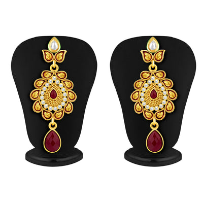Sukkhi Fancy Gold Plated AD Necklace Set For Women-5