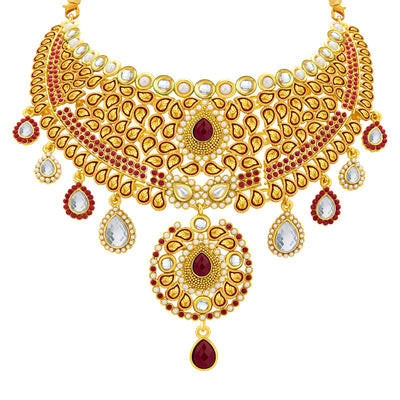 Sukkhi Fancy Gold Plated AD Necklace Set For Women-2