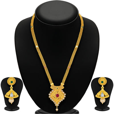 Sukkhi Youthful Gold Plated Necklace Set For Women-1