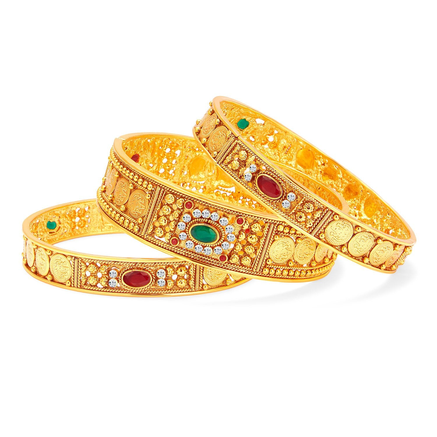 Sukkhi Fascinating Temple Jewelery Gold Plated Coin Bangle For Women