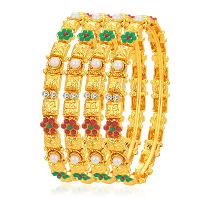 Sukkhi Ethnic Gold Plated Bangle For Women