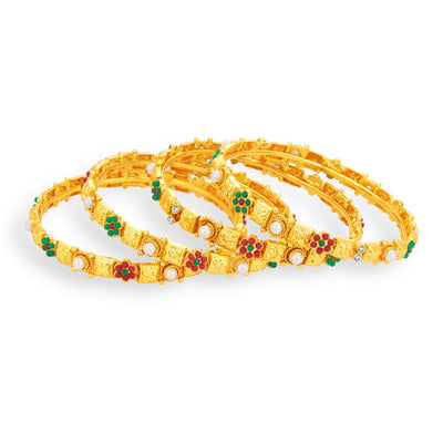 Sukkhi Ethnic Gold Plated Bangle For Women-1