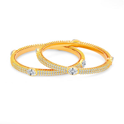 Sukkhi Stylish Gold Plated American Diamond Bangle For Women-1
