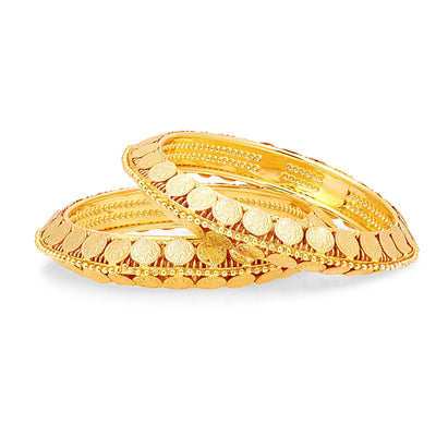 Sukkhi Sublime Laxmi Temple Gold Plated Bangle For Women-1