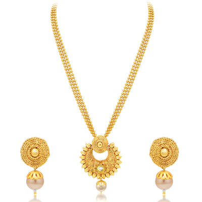 Sukkhi Pleasing Gold Plated Necklace Set For Women