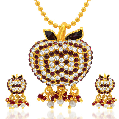 Sukkhi Marvelous Gold Plated AD Pendant Set for Women