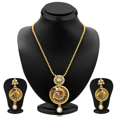 Sukkhi Marvellous Gold Plated Pendant Set For Women