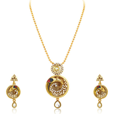 Sukkhi Marvellous Gold Plated Pendant Set For Women-1