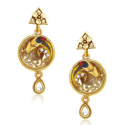 Sukkhi Marvellous Gold Plated Pendant Set For Women-5