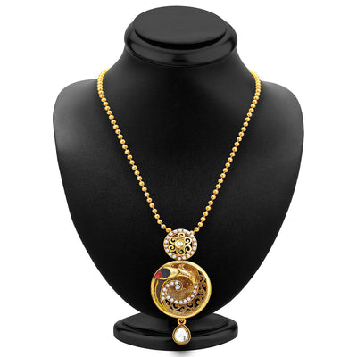 Sukkhi Marvellous Gold Plated Pendant Set For Women-2