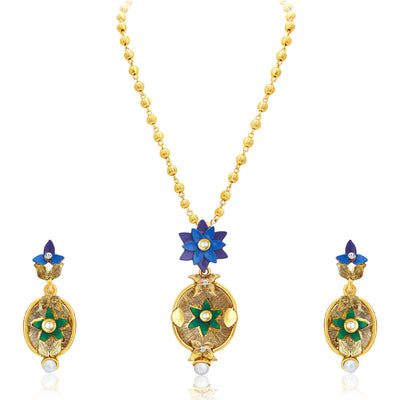 Sukkhi Ritzy Gold Plated Pendant Set For Women-1