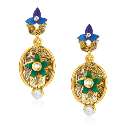 Sukkhi Ritzy Gold Plated Pendant Set For Women-5