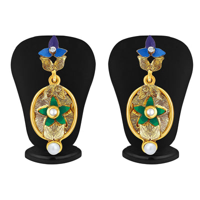 Sukkhi Ritzy Gold Plated Pendant Set For Women-4