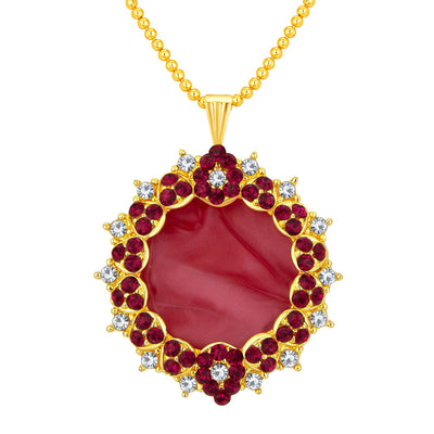 Sukkhi Alluring Gold Plated AD Pendant Set For Women-1