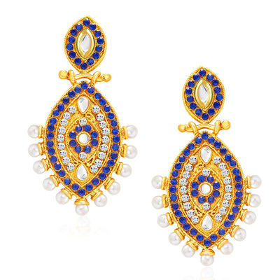 Sukkhi Elegant Peacock Gold Plated Kundan Reversible Earring For Women-1