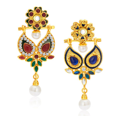 Sukkhi Resplendent Gold Plated Reversible Earring For Women