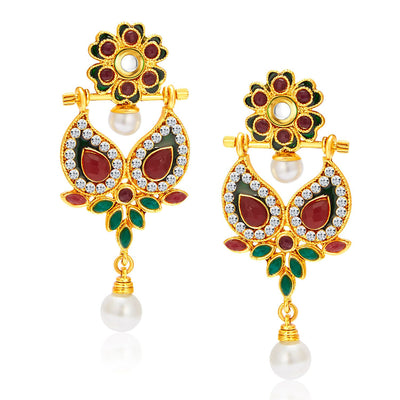 Sukkhi Resplendent Gold Plated Reversible Earring For Women-1