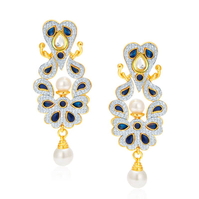 Sukkhi Graceful Gold Plated AD Reversible Earring For Women-2