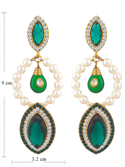 Sukkhi Brilliant Gold Plated Pearl Earring For Women-1