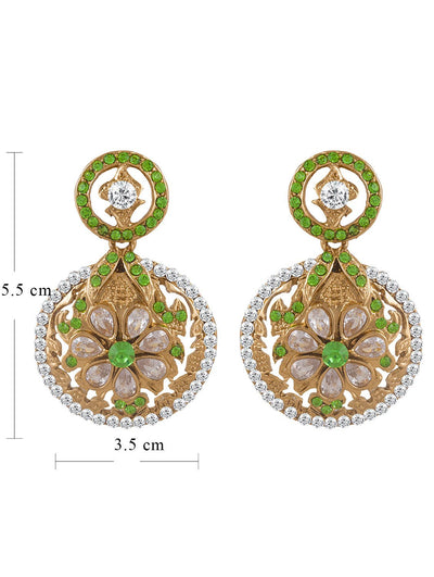 Sukkhi Graceful Gold Plated AD Earring For Women-1