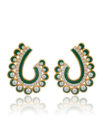 Sukkhi Glorious Gold Plated AD Earring For Women
