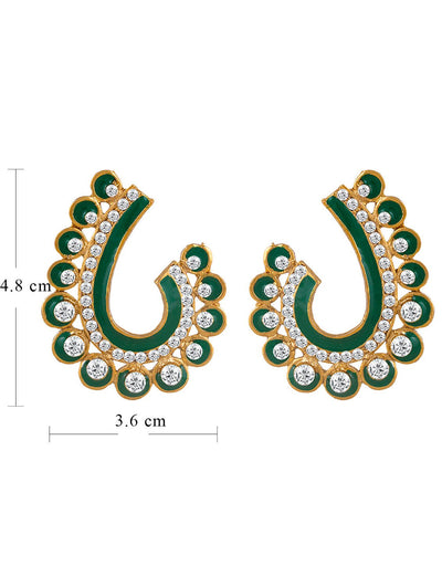 Sukkhi Glorious Gold Plated AD Earring For Women-1