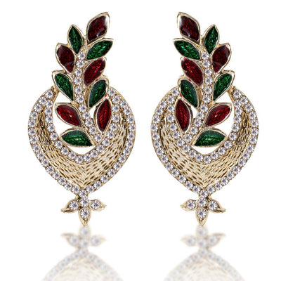 Sukkhi Fine Gold Plated AD Earring For Women