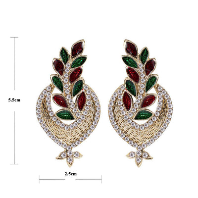 Sukkhi Fine Gold Plated AD Earring For Women-1