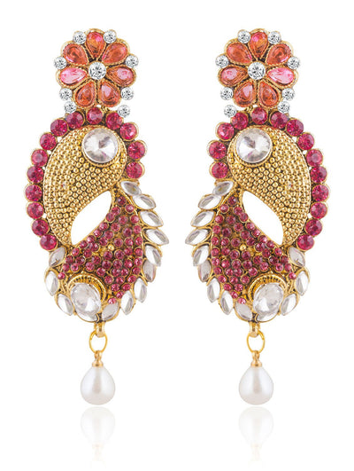 Sukkhi Astonish Gold Plated AD and Kundan Earring For Women