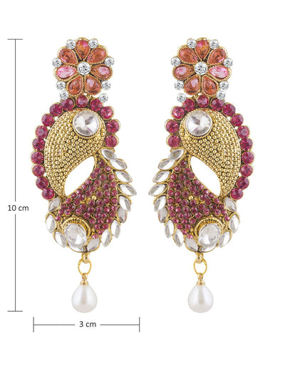 Sukkhi Astonish Gold Plated AD and Kundan Earring For Women-1