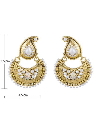 Sukkhi Creative Gold Plated Chandbali Earring For Women-1