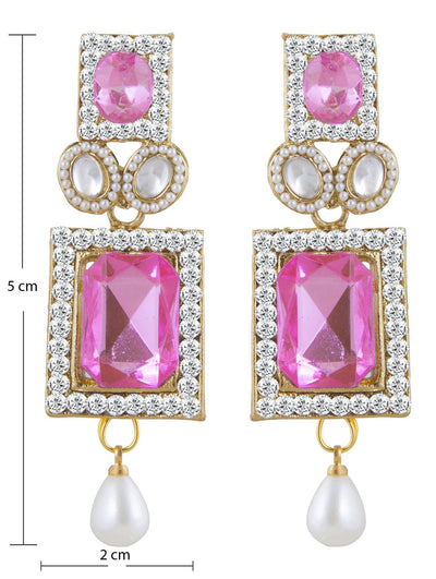 Sukkhi Appealing Gold Plated AD Earring For Women-1