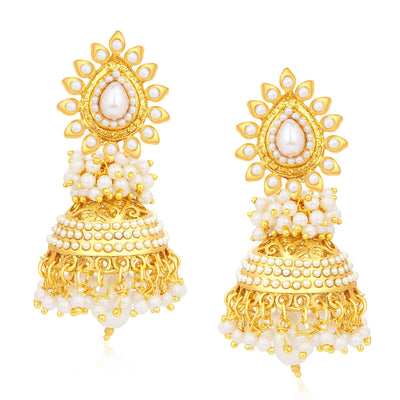 Sukkhi Gorgeous Jhumki Gold Plated Set of 2 Pair Earring Combo For Women-2