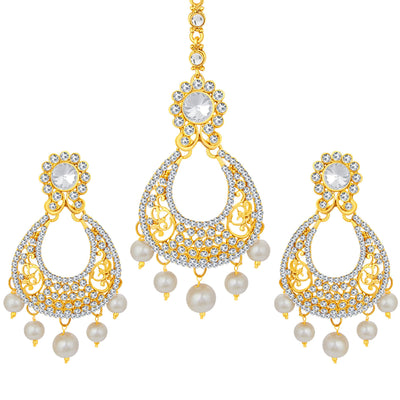 Sukkhi Modern Gold Plated AD Earring For Women