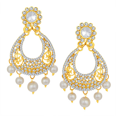Sukkhi Modern Gold Plated AD Earring For Women-1