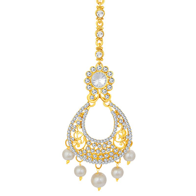 Sukkhi Modern Gold Plated AD Earring For Women-2