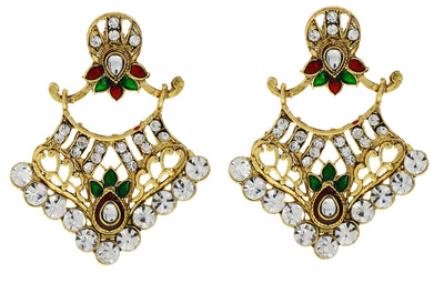 Sukkhi Graceful Gold Plated AD Earring For Women