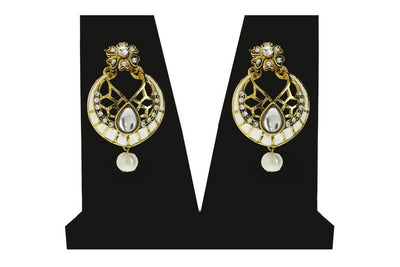 Sukkhi Delightful Gold Plated AD Earring For Women-1