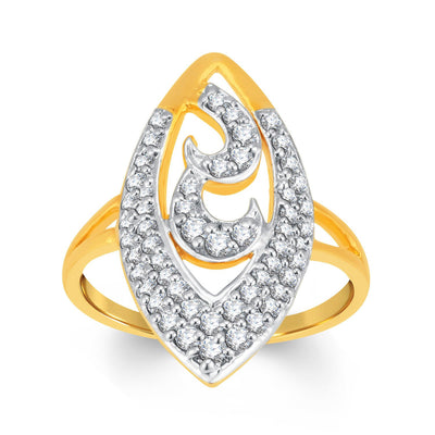 Sukkhi Estonish Gold and Rhodium Plated Cubic Zirconia Ring