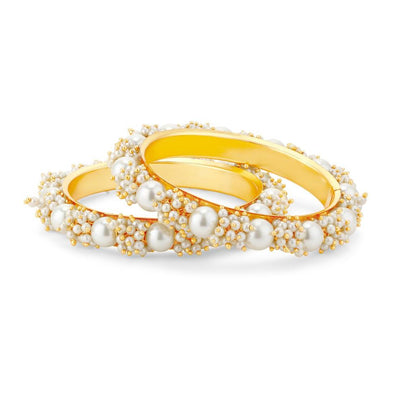 Sukkhi Ravishing Gold Plated Pear Bangle Set for Women