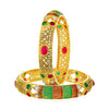 Sukkhi Glamorous Gold Plated Bangle Set for Women (Set of 2)