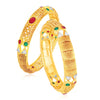 Sukkhi Glitzy Gold Plated Bangle Set For Women (Set of 2)