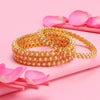 Sukkhi Shimmering Gold Plated Bangle For Women  (Set of 4)