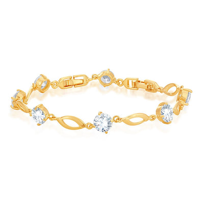 Sukkhi Graceful Gold Plated Charm bracelet for women