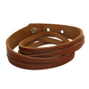 Sukkhi Fancy Brown Leather Striped Bracelet For Men